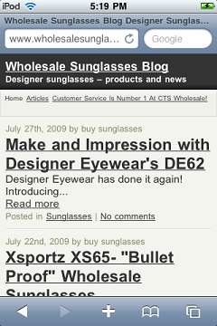 Wholesale Sunglass Blog